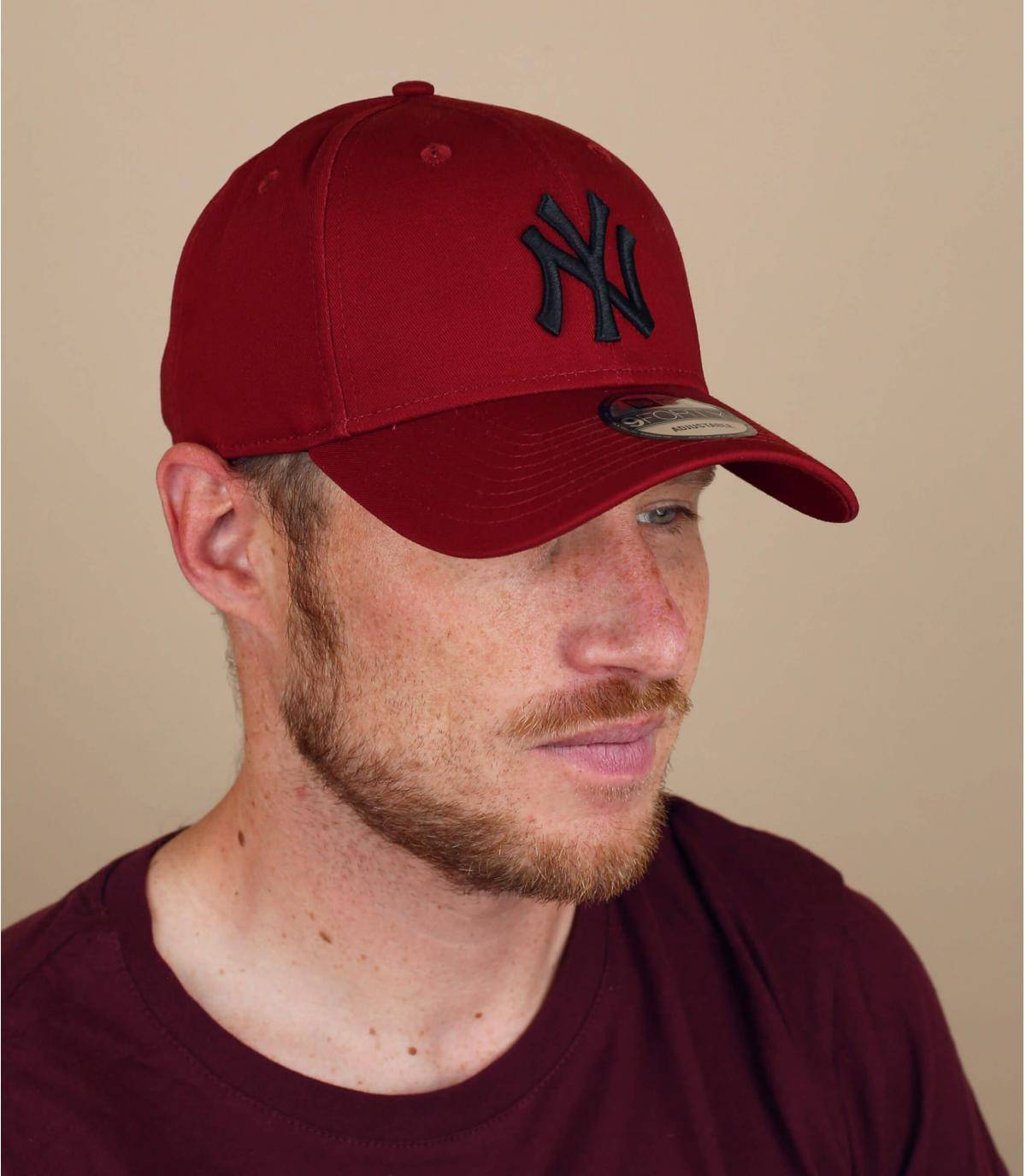 casquette NY rouge