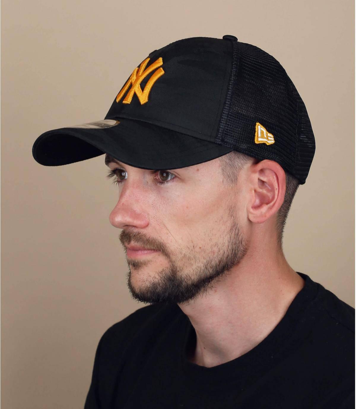 trucker NY camo jaune