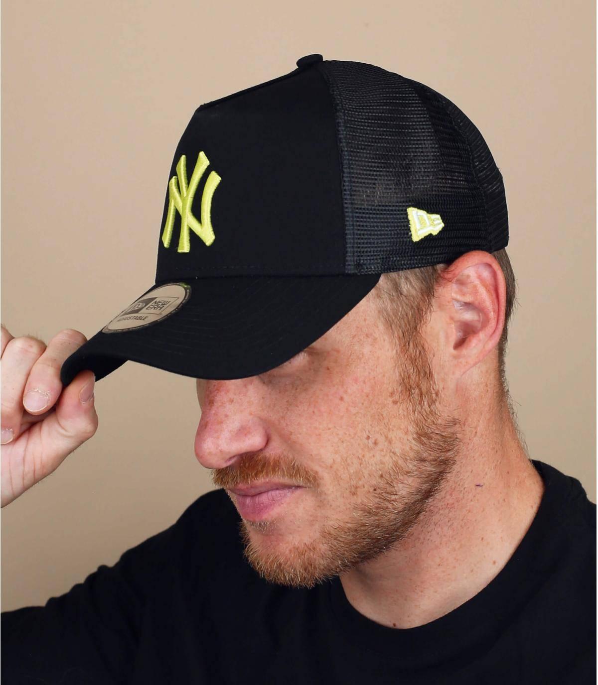 trucker NY noir jaune