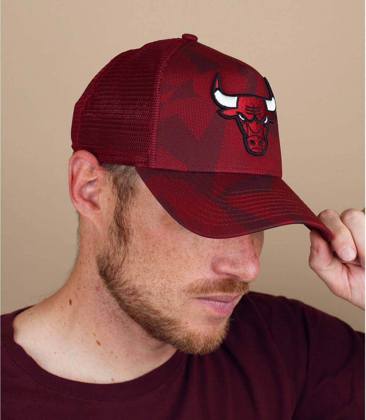 trucker Bulls rouge