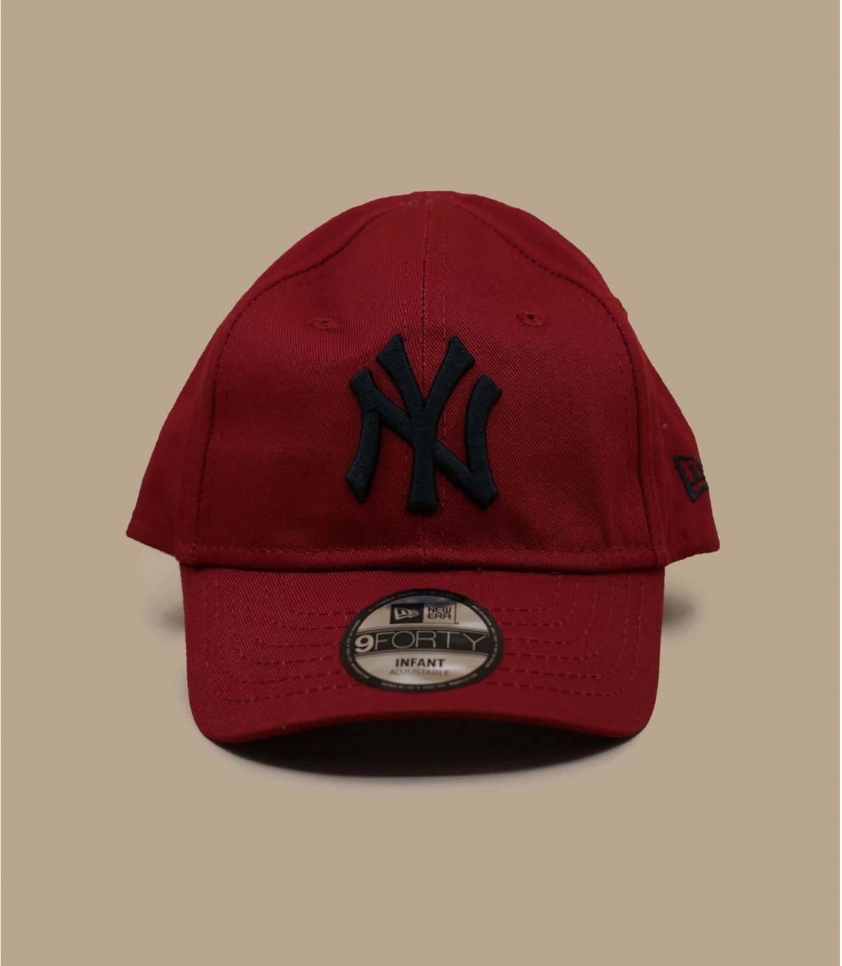casquette NY bébé rouge