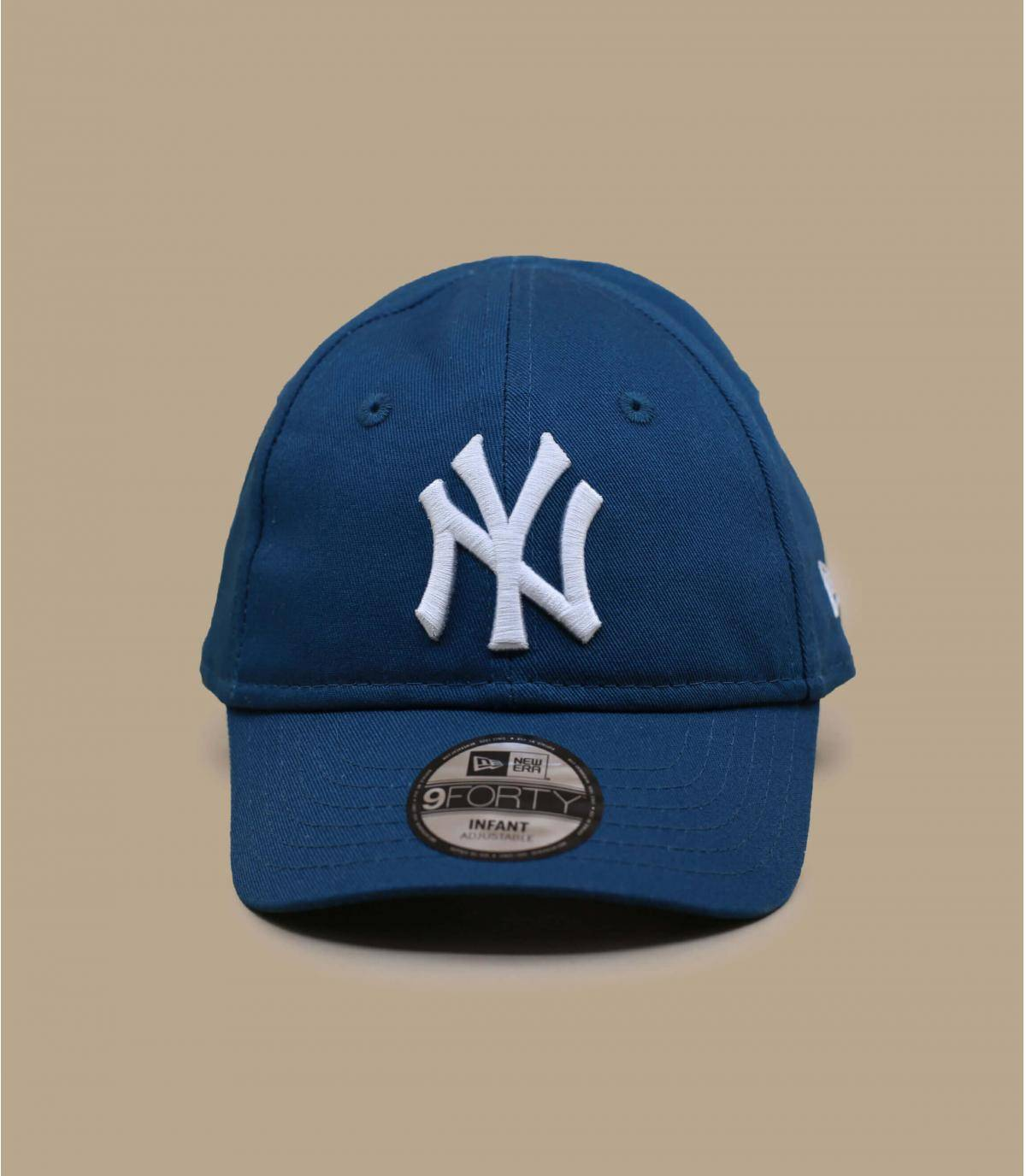 casquette NY bébé bleu