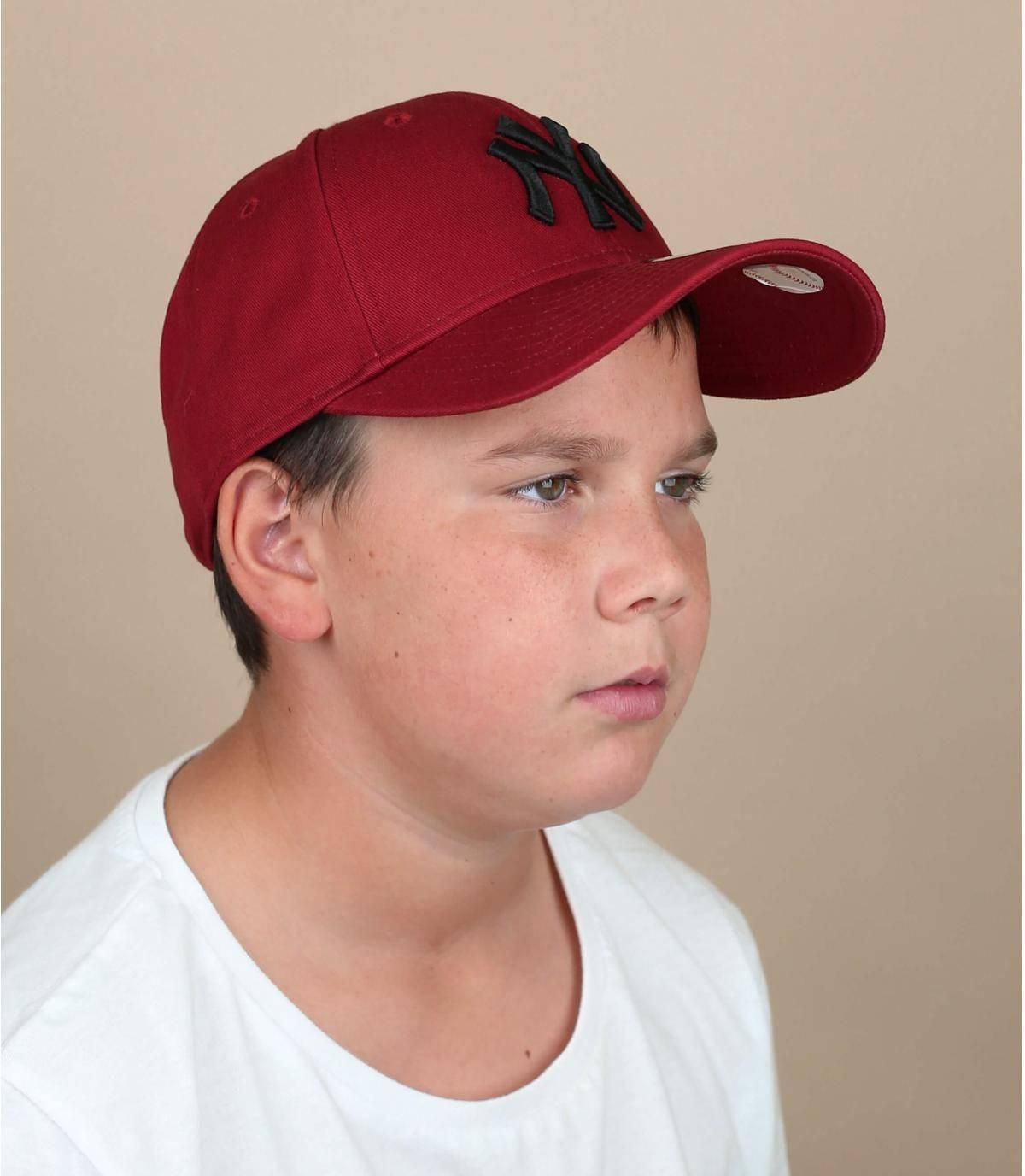 casquette enfant NY rouge