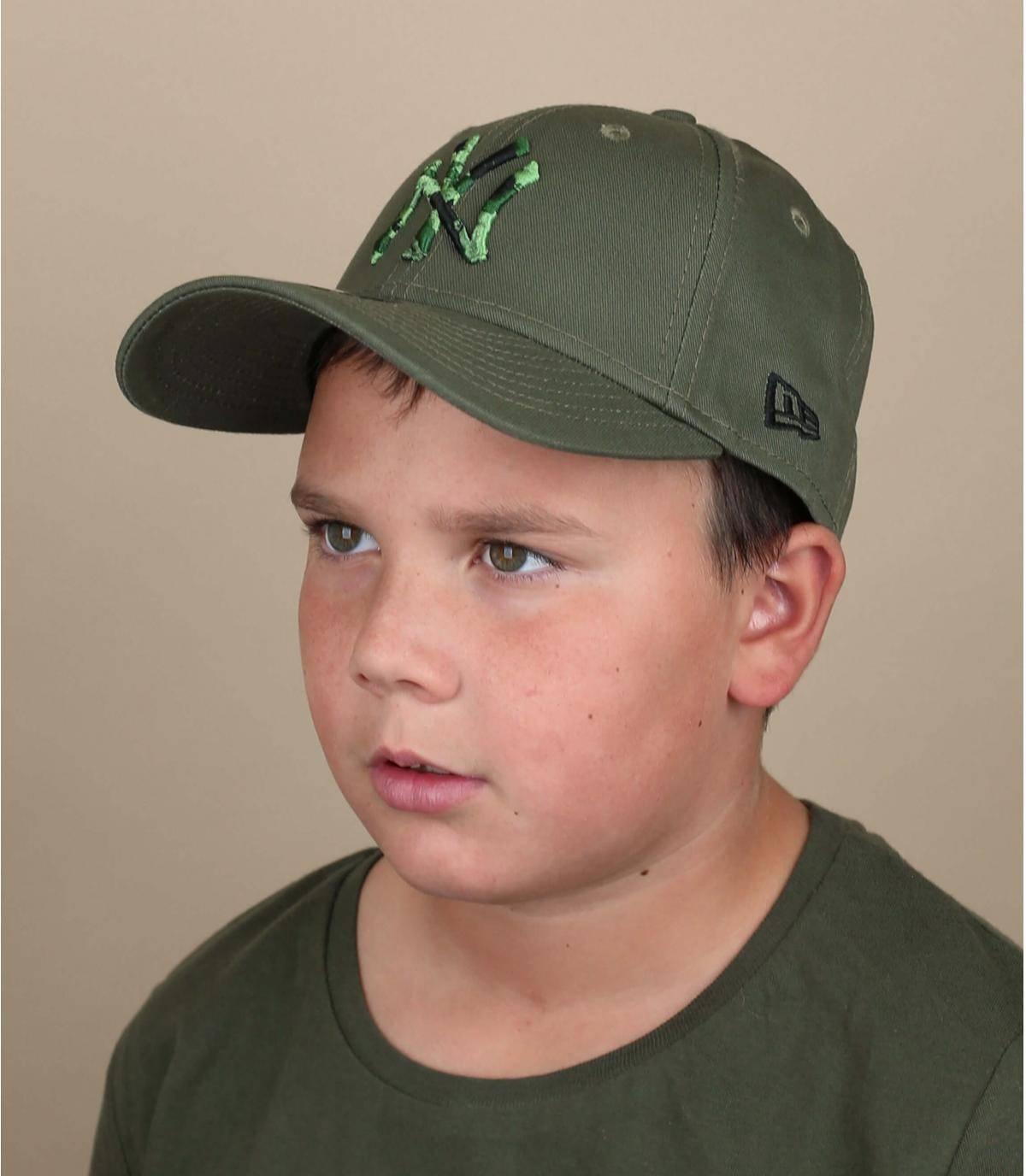 casquette NY enfant vert