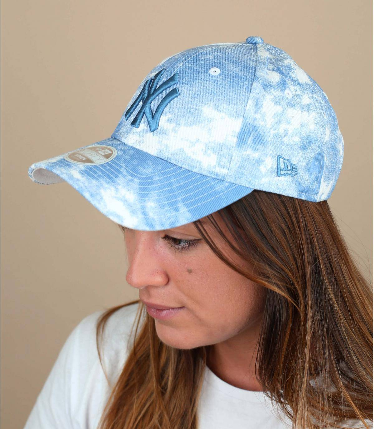 casquette NY femme bleu