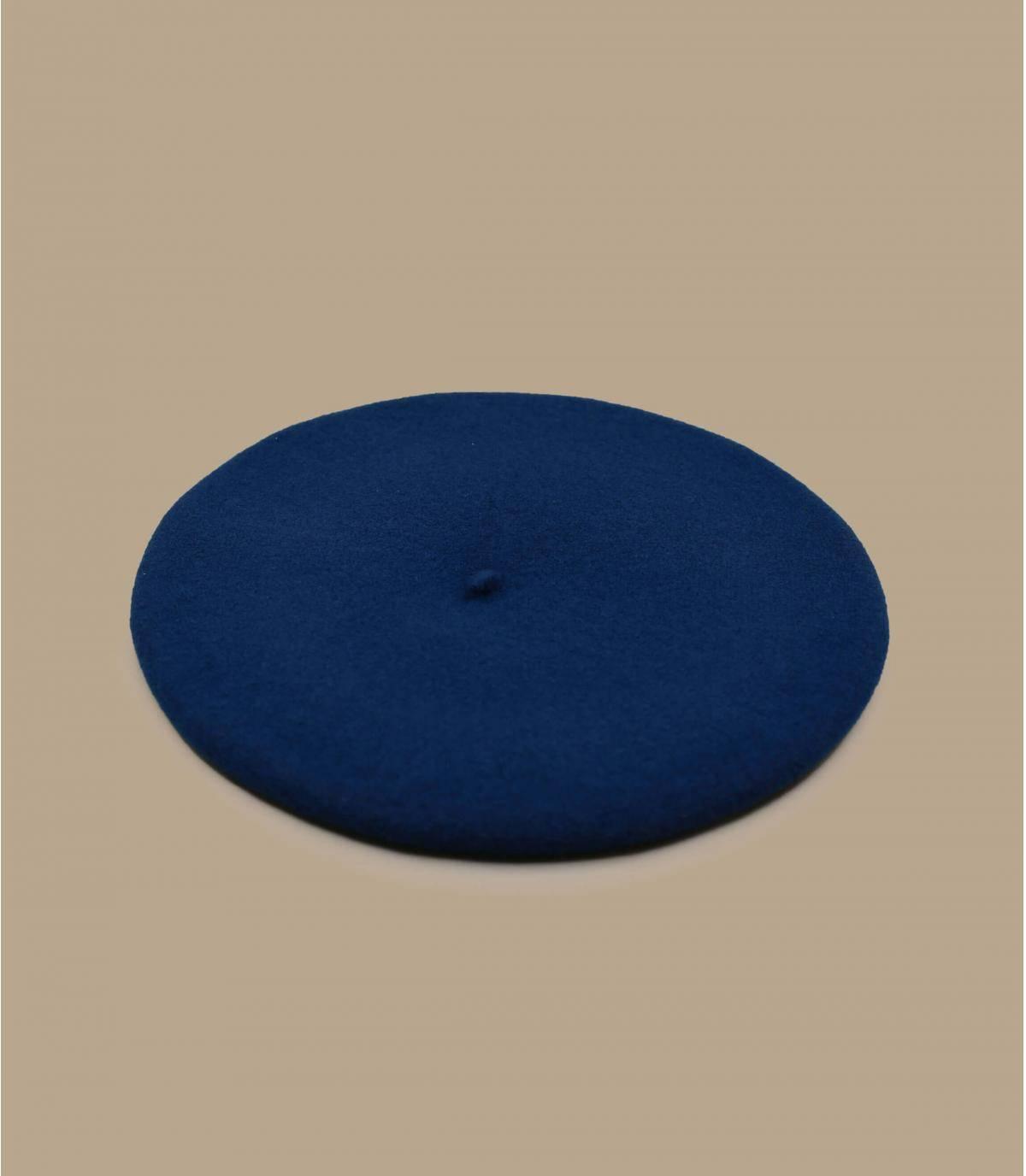 béret laine bleu