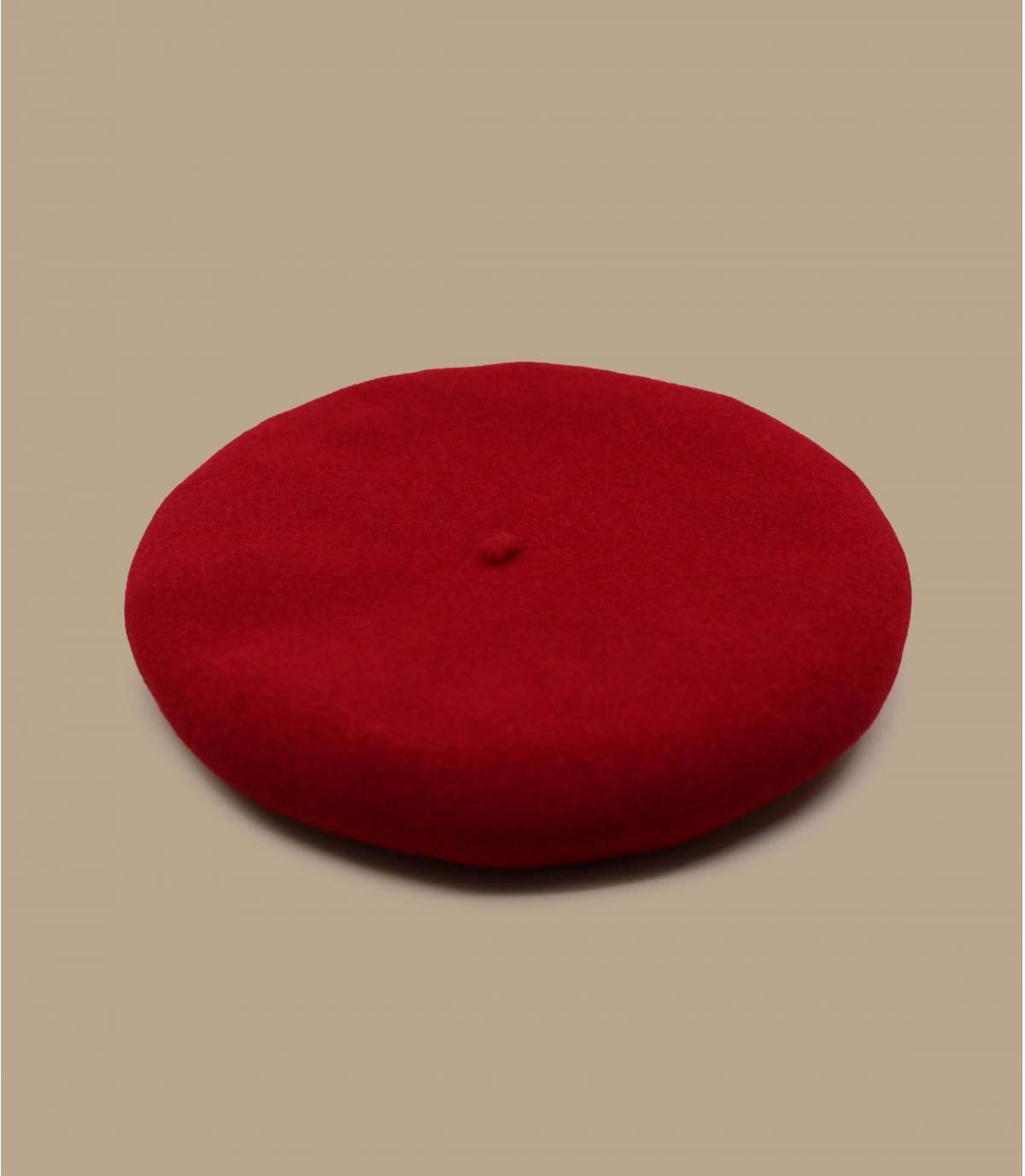 béret laine rouge
