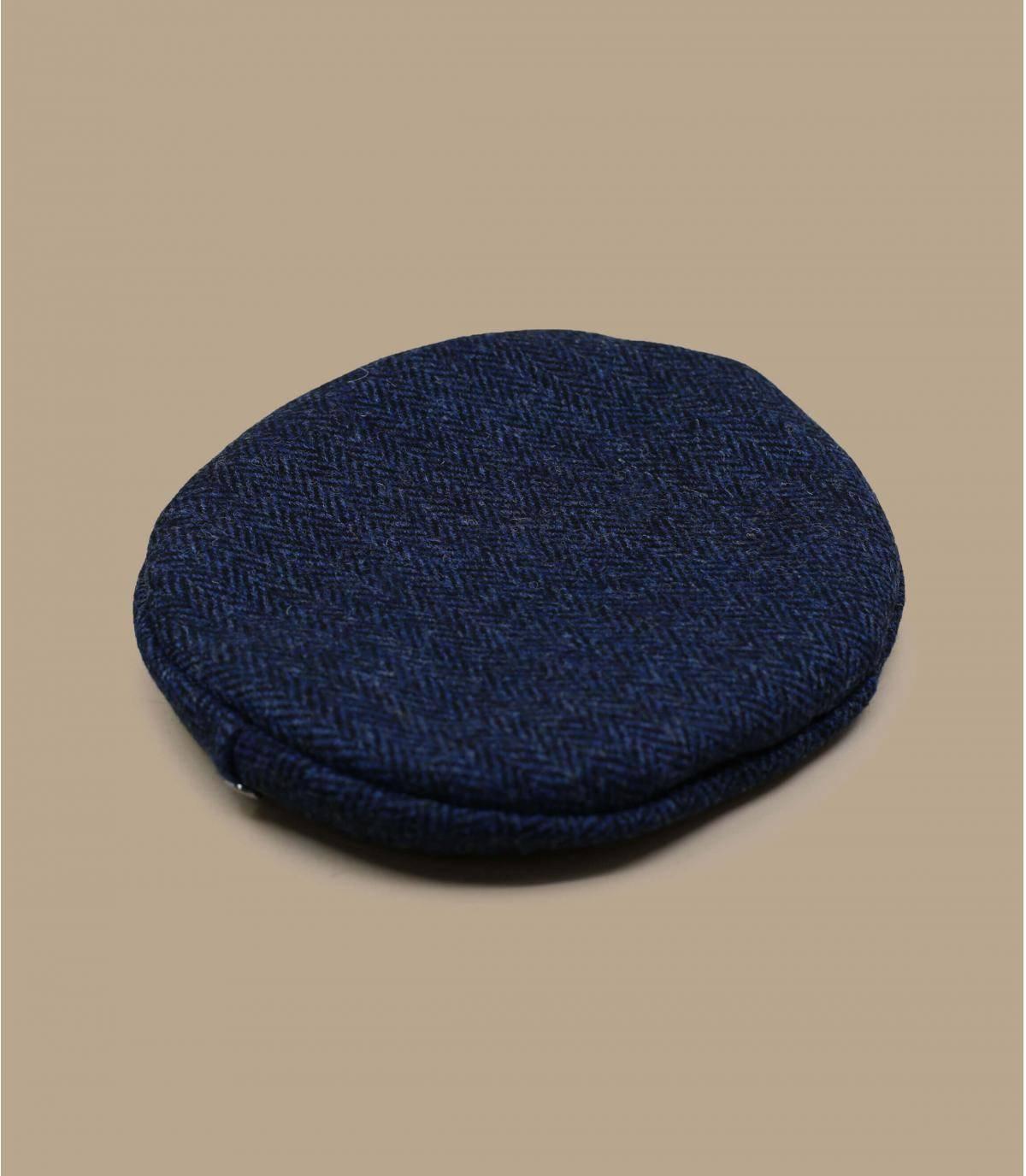béret tweed bleu