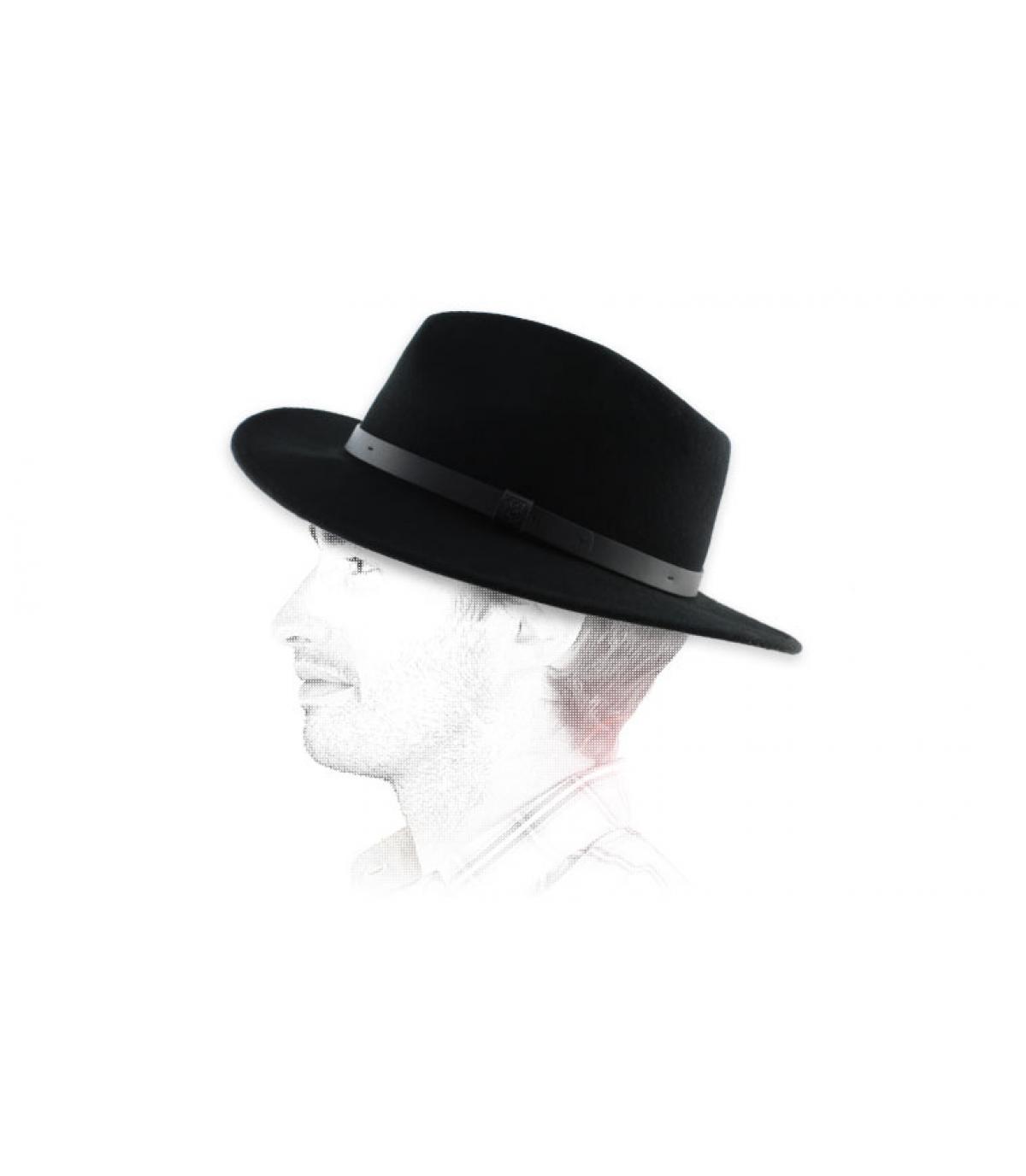 Chapeau homme fedora noir