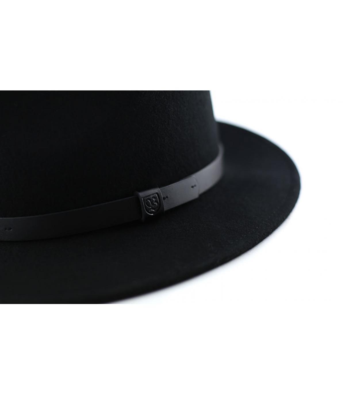 Détails Chapeau Messer fedora black - image 3