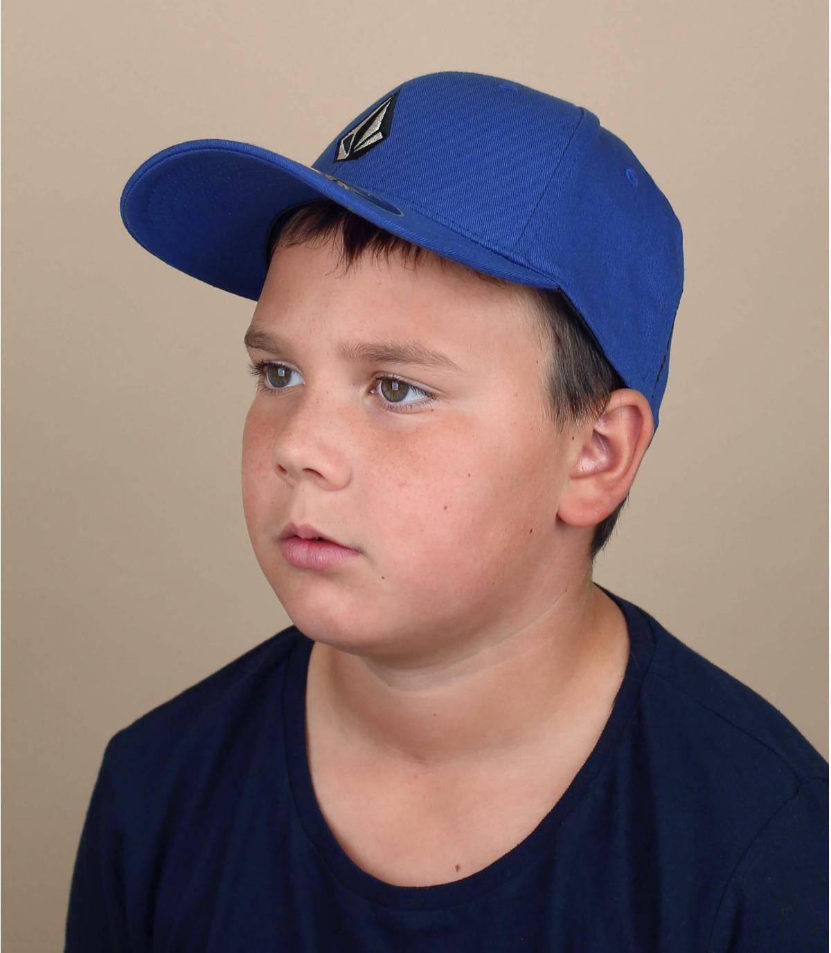 casquette enfant Volcom bleu