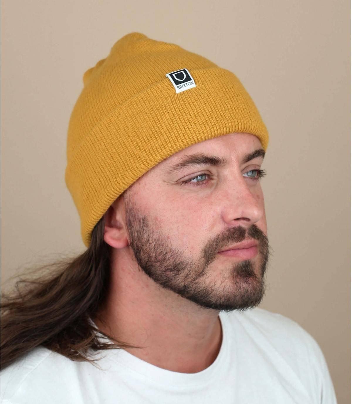 bonnet revers jaune