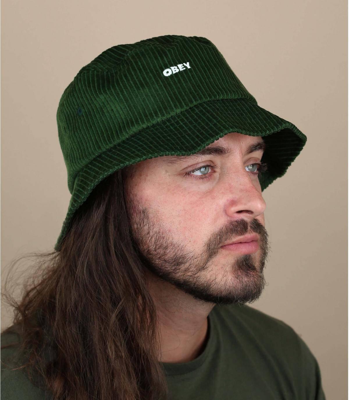 bob velours vert Obey