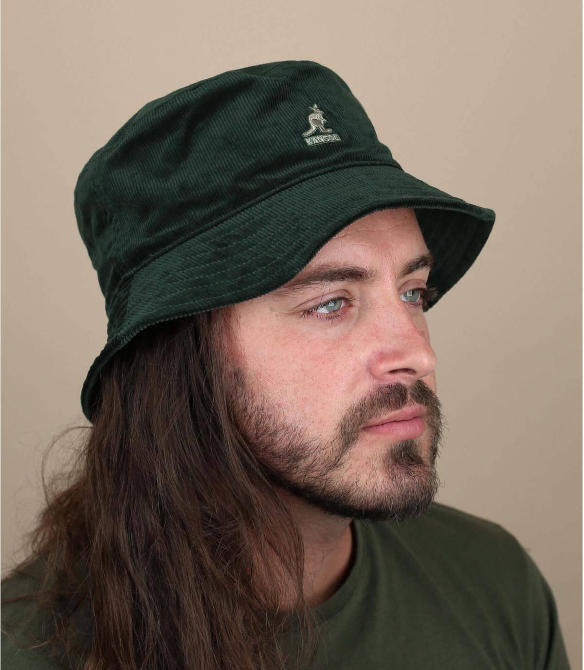 bob velours vert