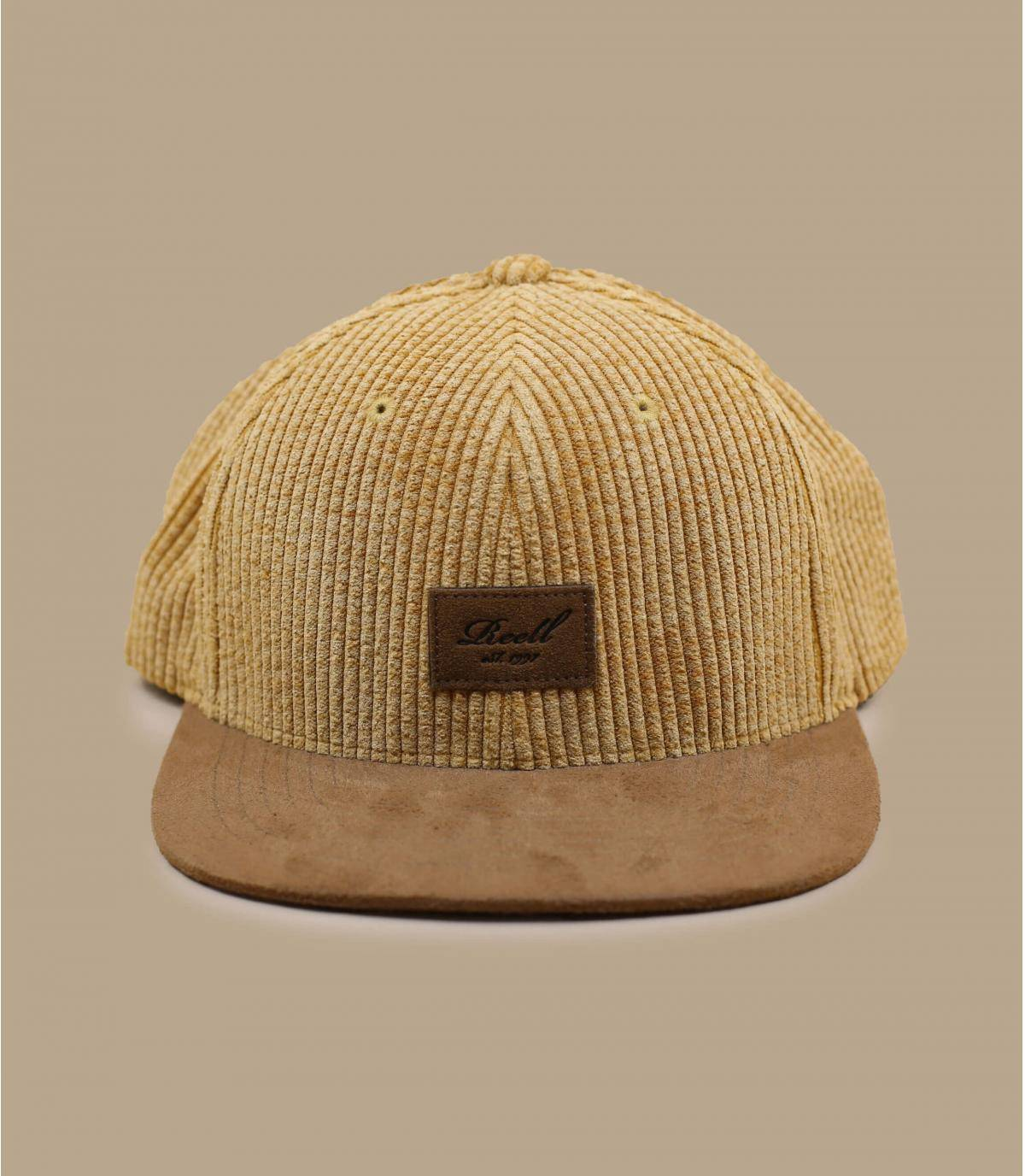 casquette velours beige