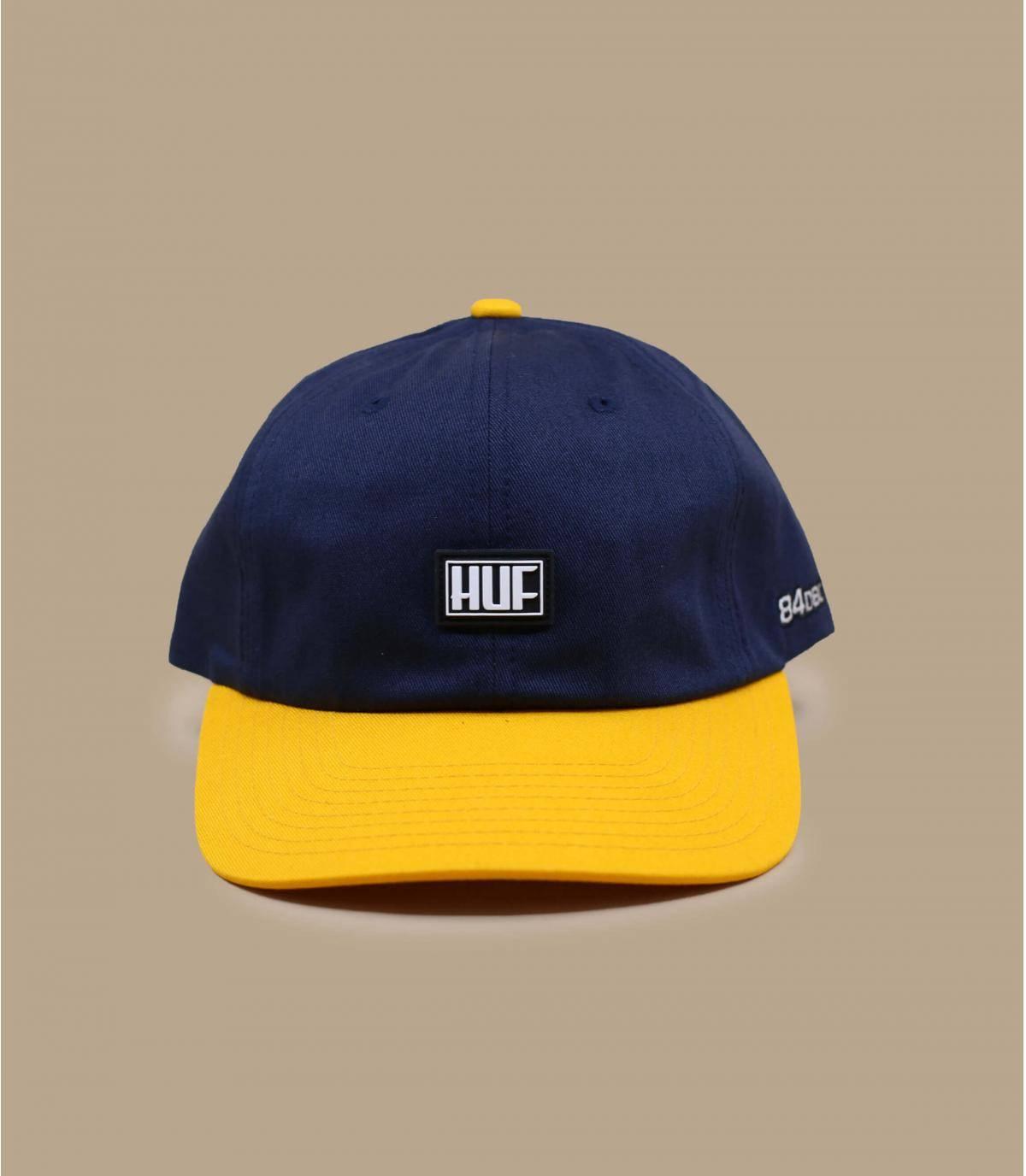 casquette Huf bleu jaune