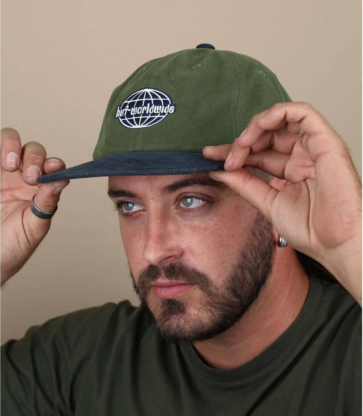 casquette velours Huf