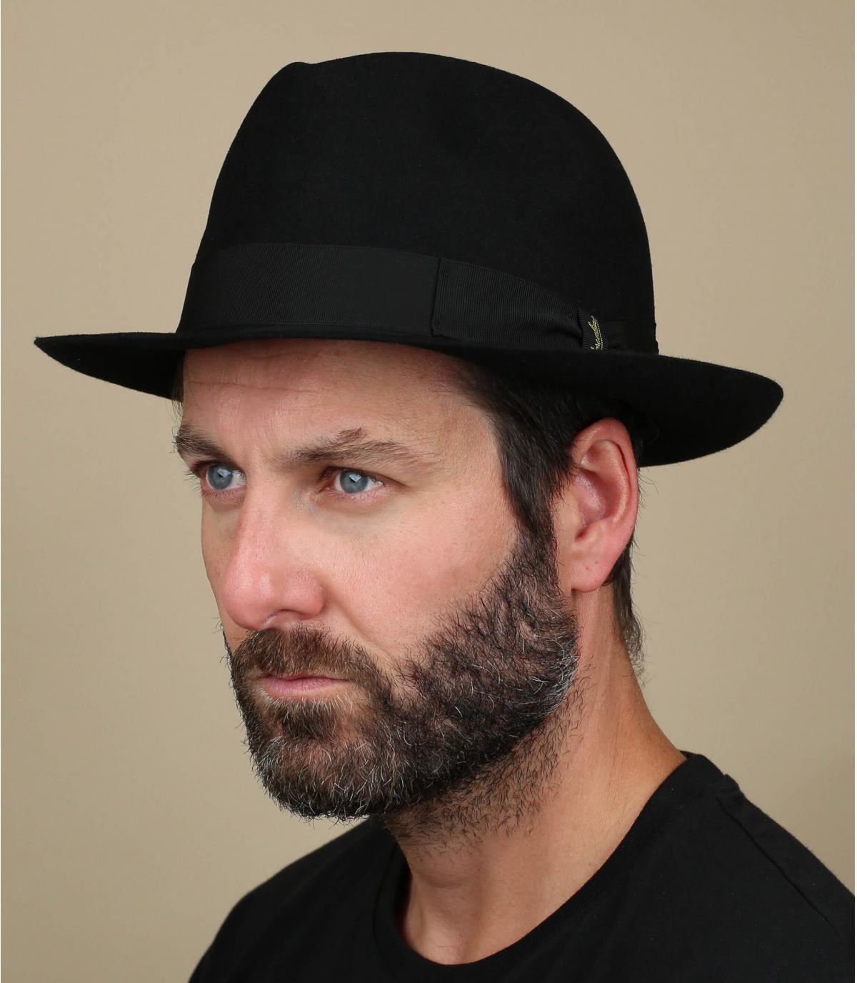 chapeau feutre lapin noir