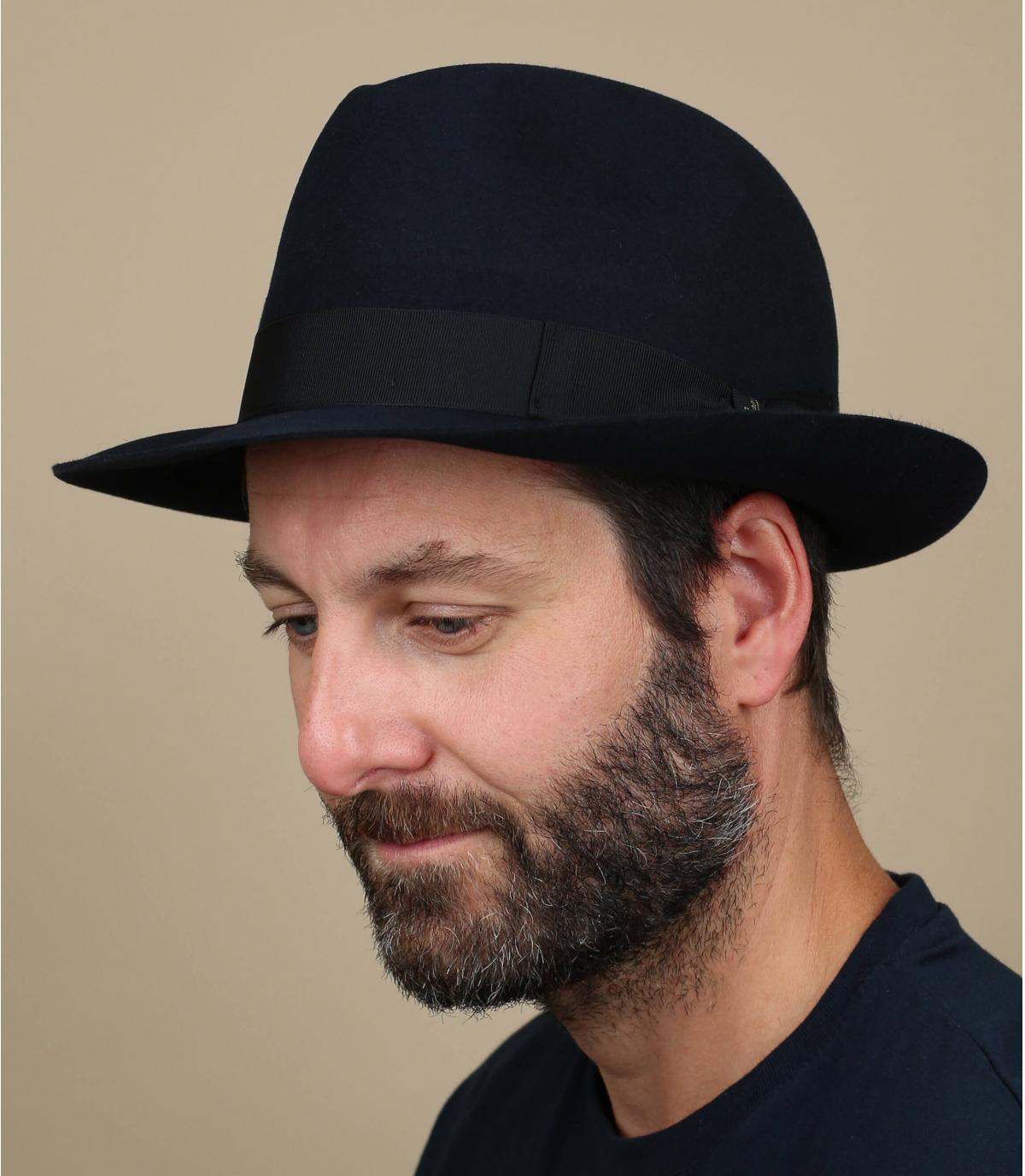 Chapeau Borsalino feutre lapin bleu