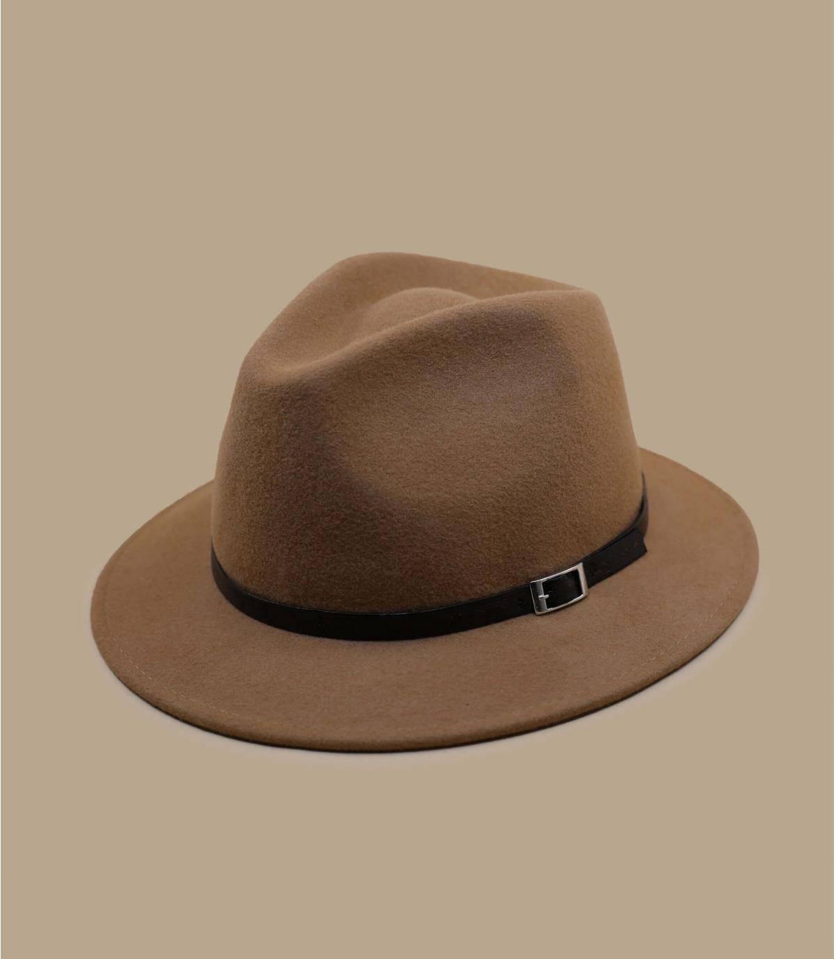 chapeau feutre camel