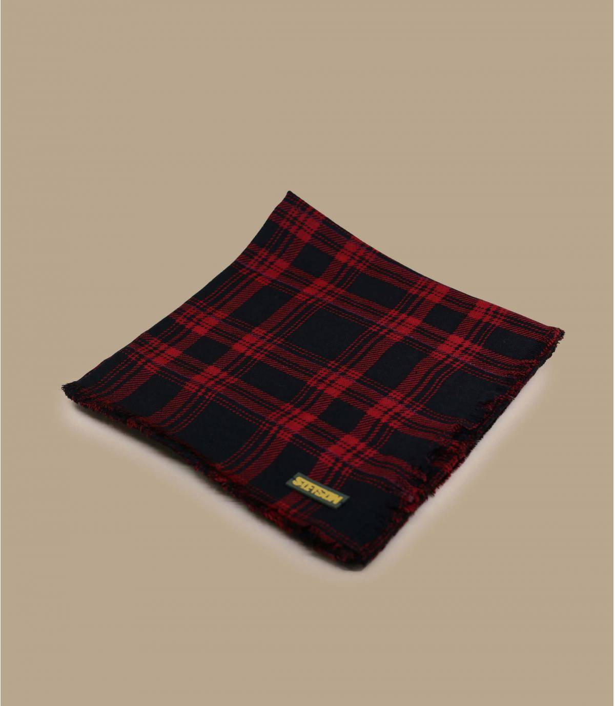 Foulard carreaux rouge
