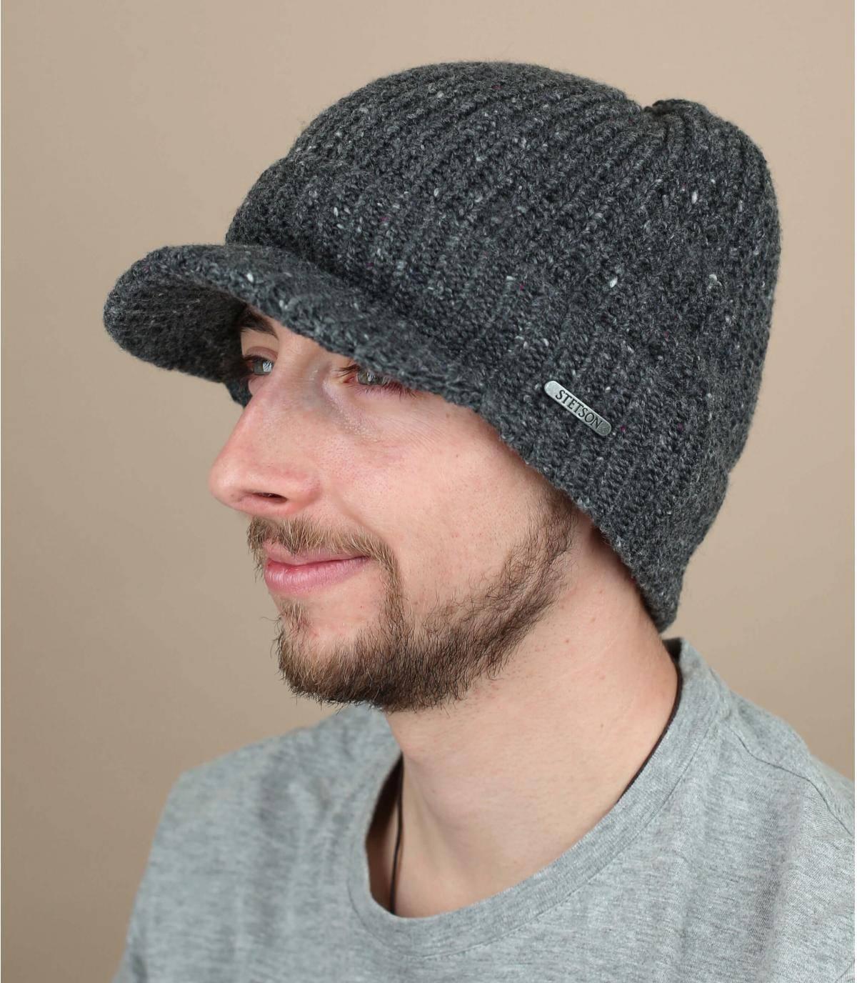 bonnet visière laine