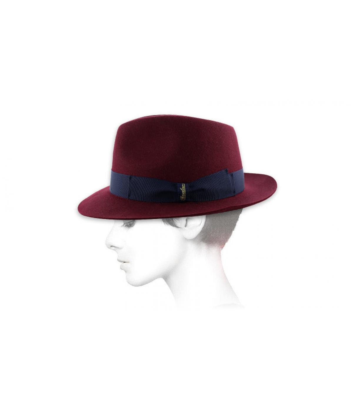 chapeau borsalino bordeaux