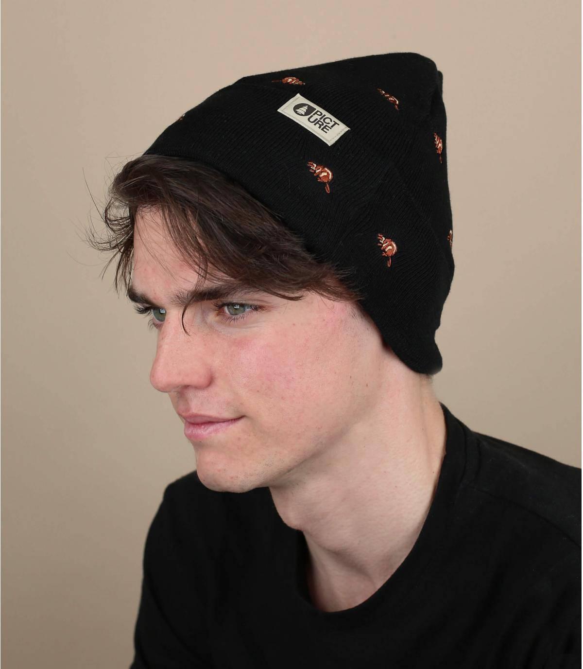bonnet castor noir