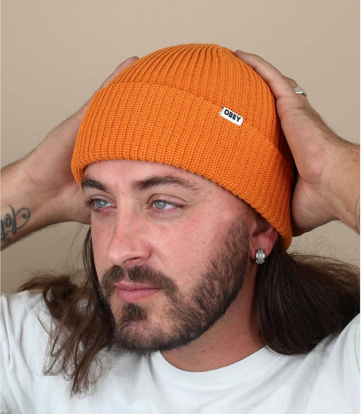 bonnet docker orange