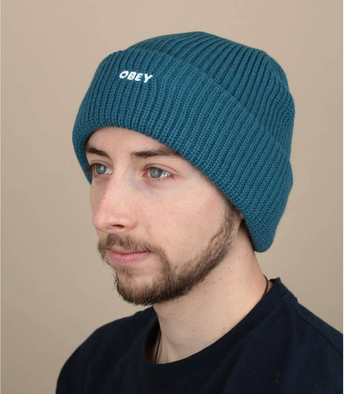 bonnet Obey bleu