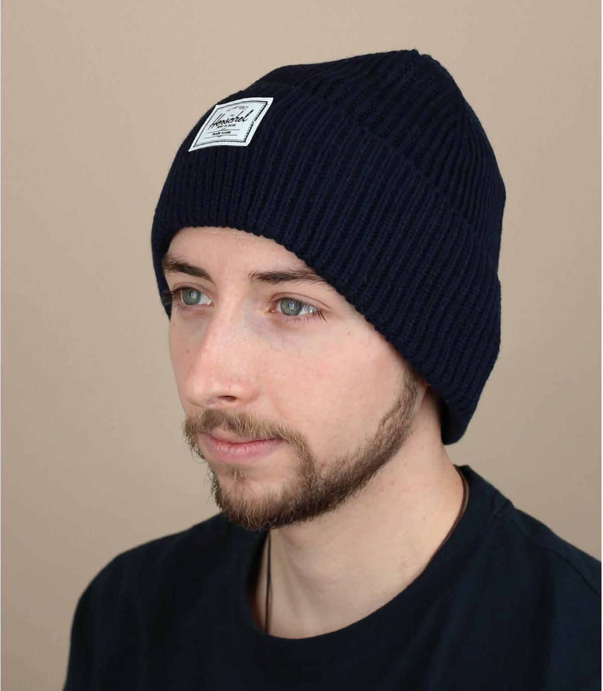bonnet docker bleu