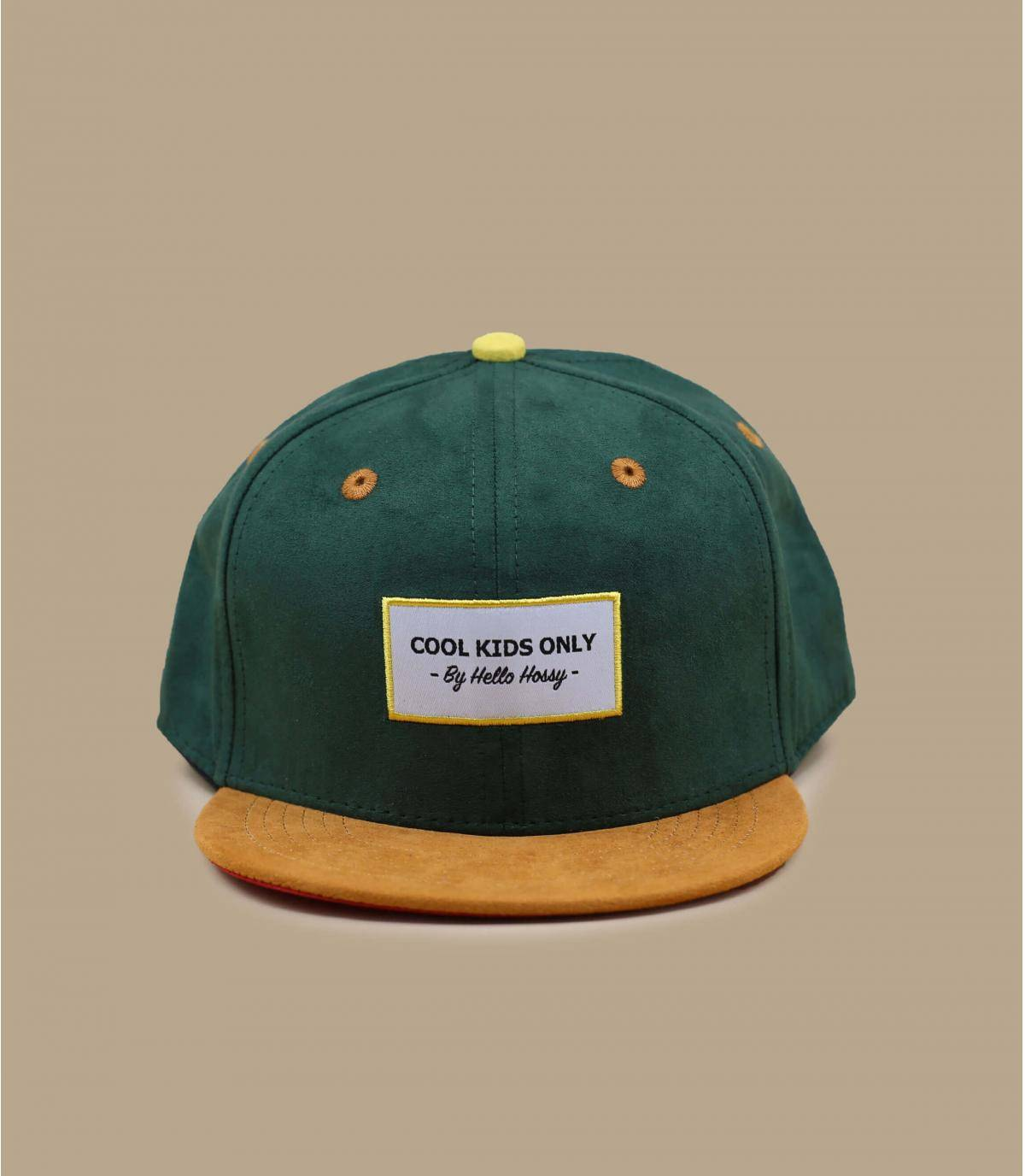 casquette enfant vert