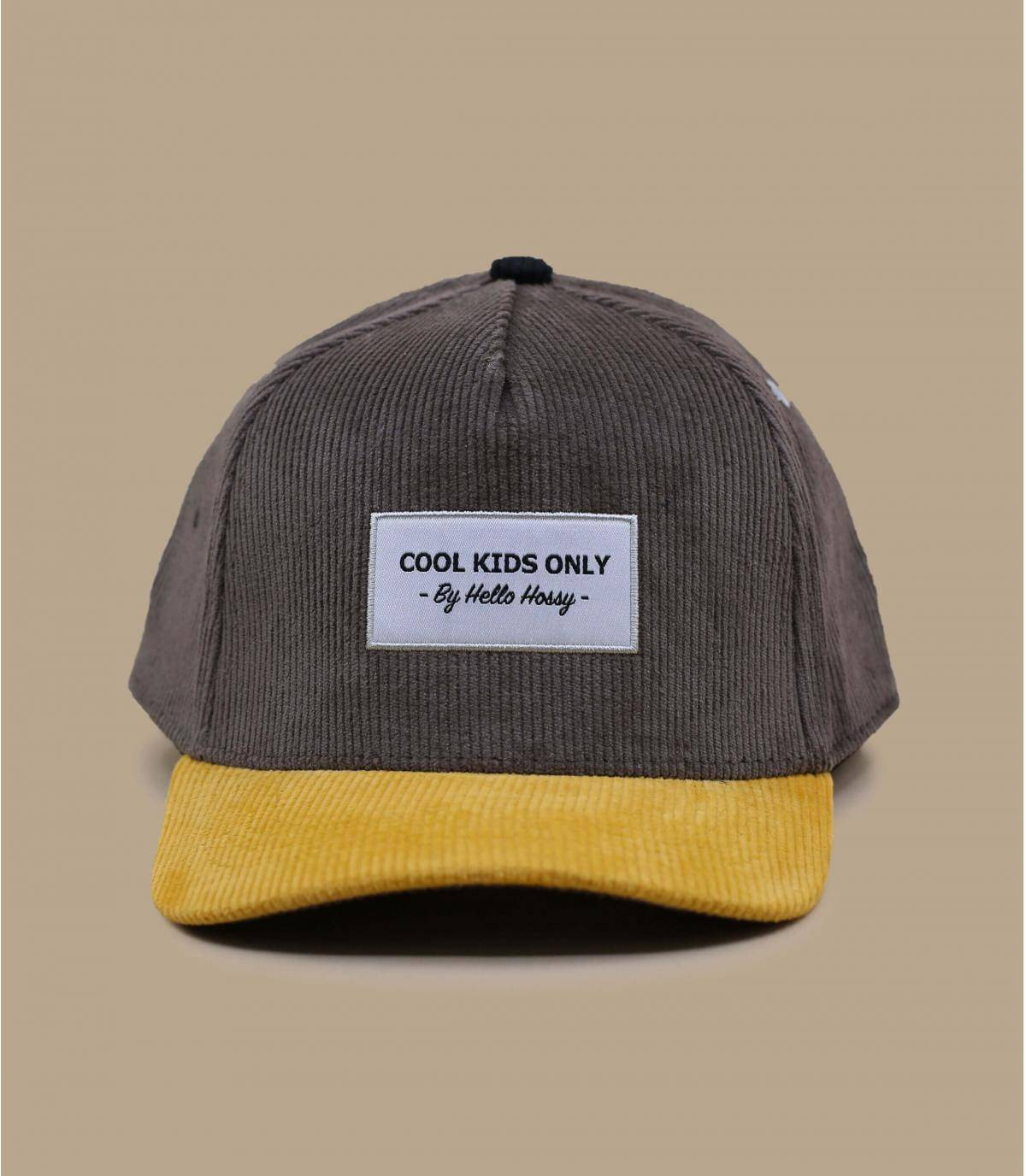 casquette enfant gris jaune
