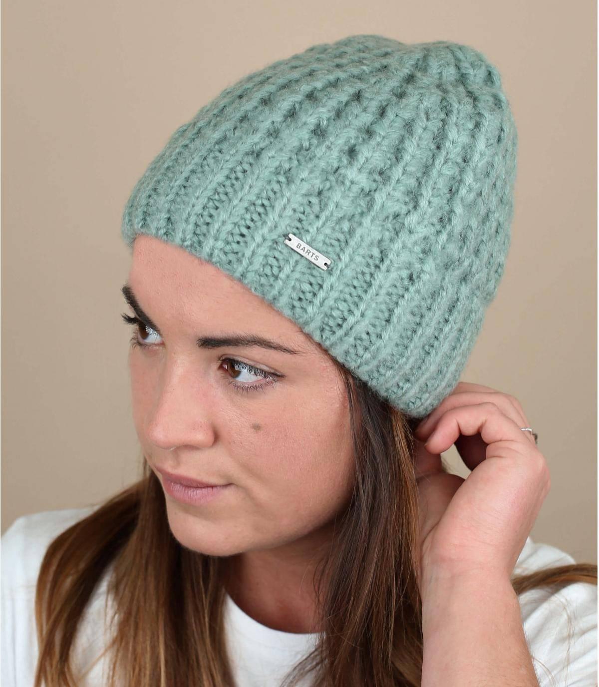 bonnet tricot bleu