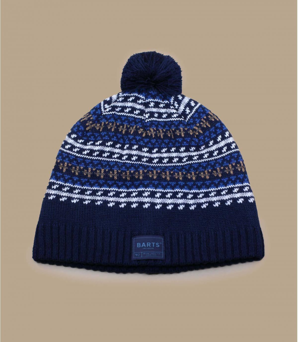 Bonnet bleu laine