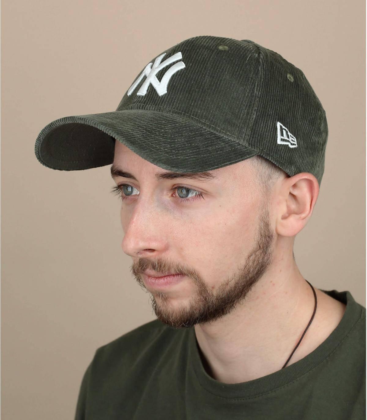 casquette velours vert