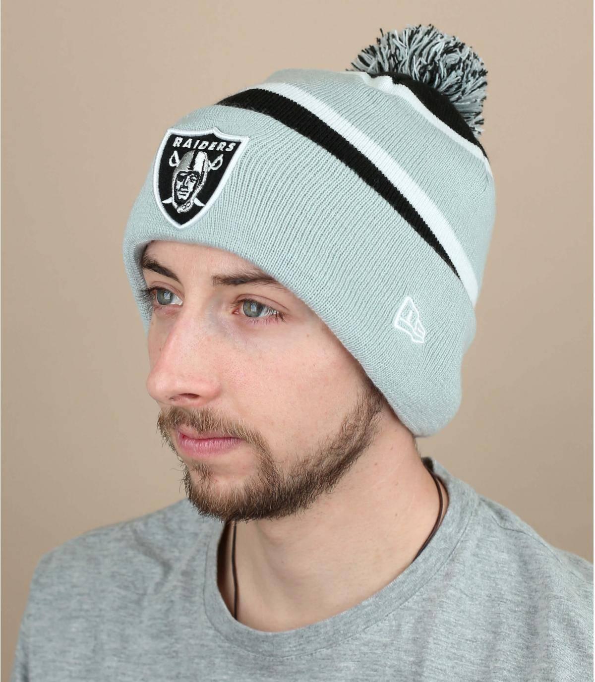 bonnet Raiders gris