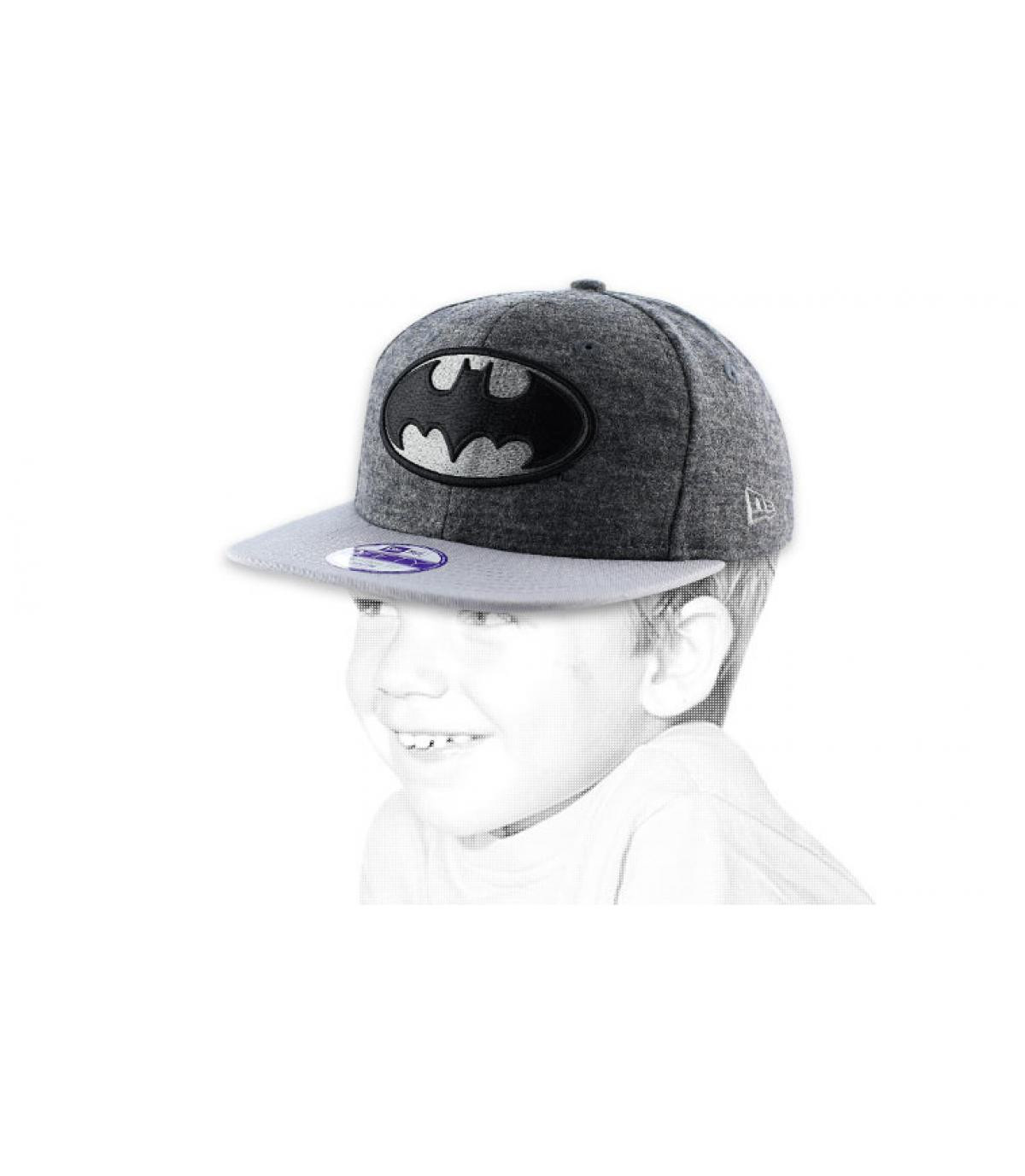 Casquette enfant Batman noire