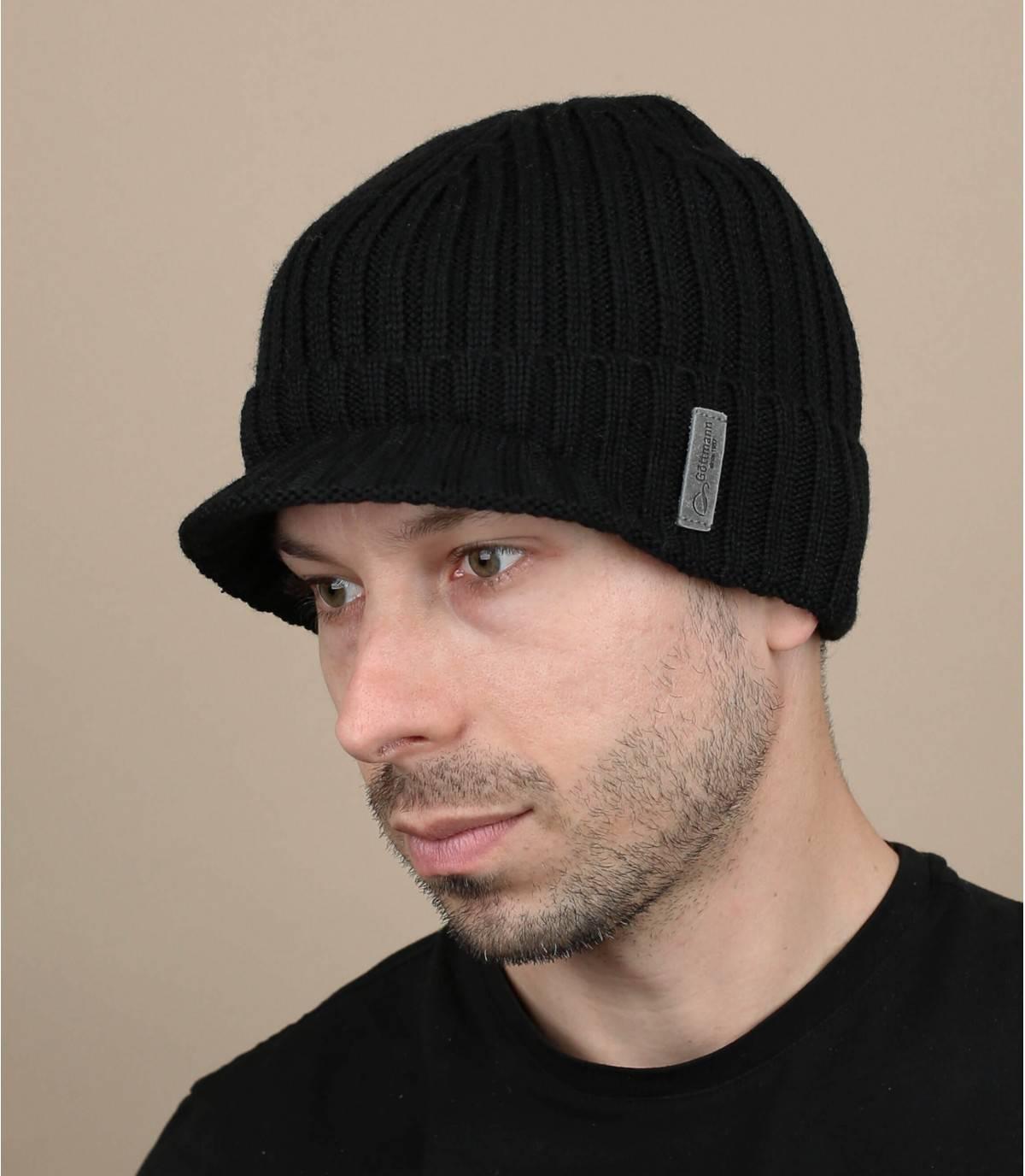 bonnet visière noir