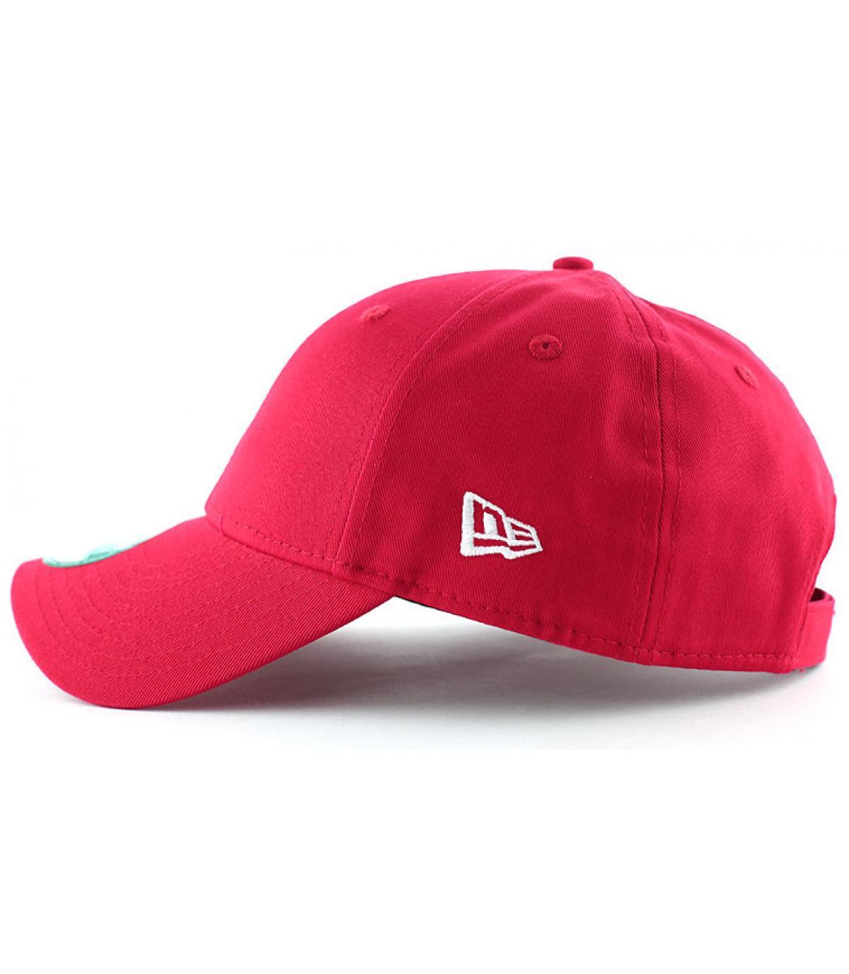 Détails Casquette basic rouge - image 3