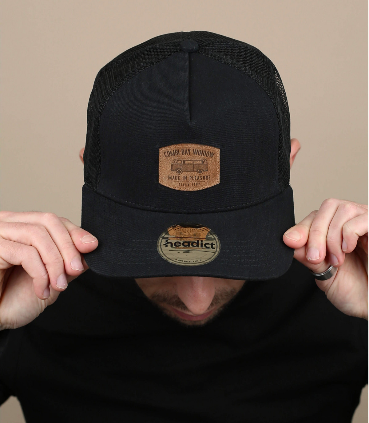 casquette Combi noire