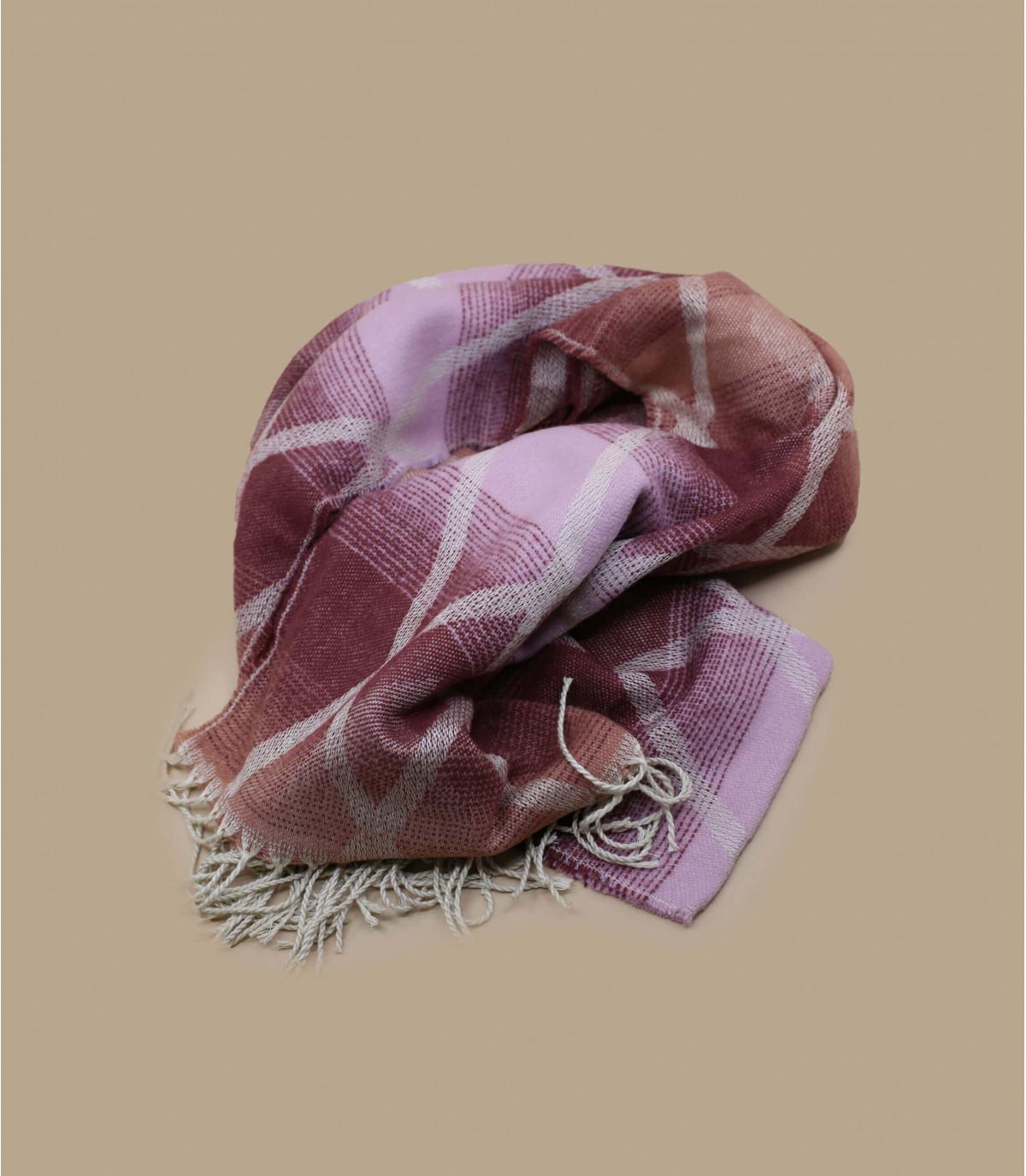 écharpe bordeaux franges