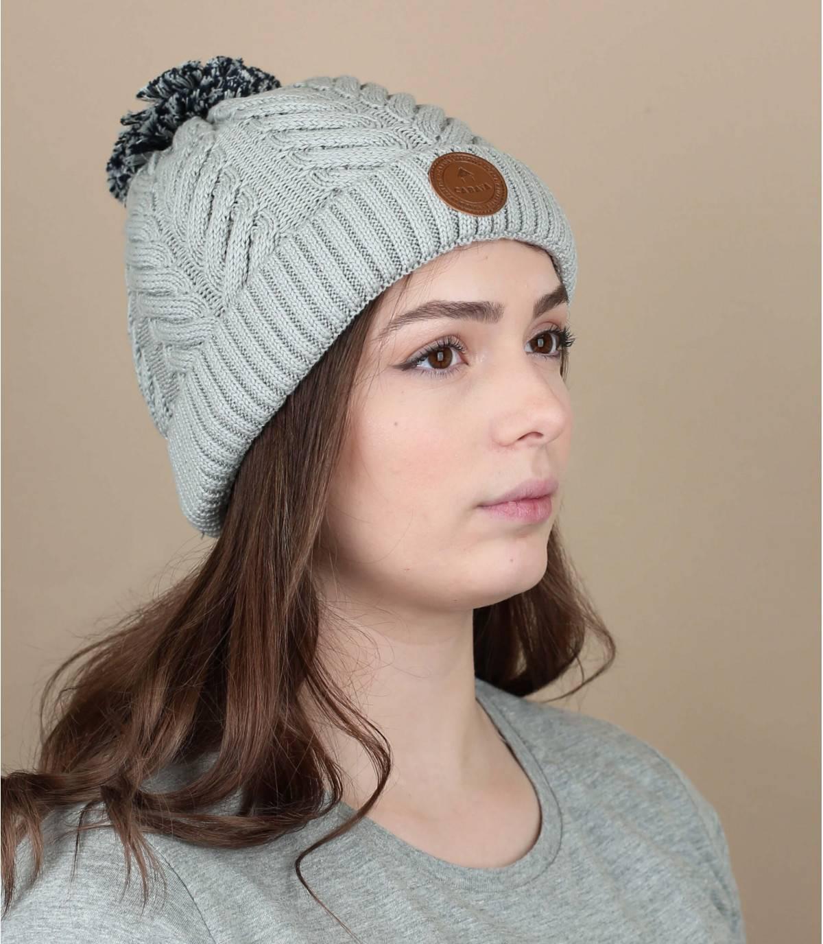 Bonnet coton bio gris
