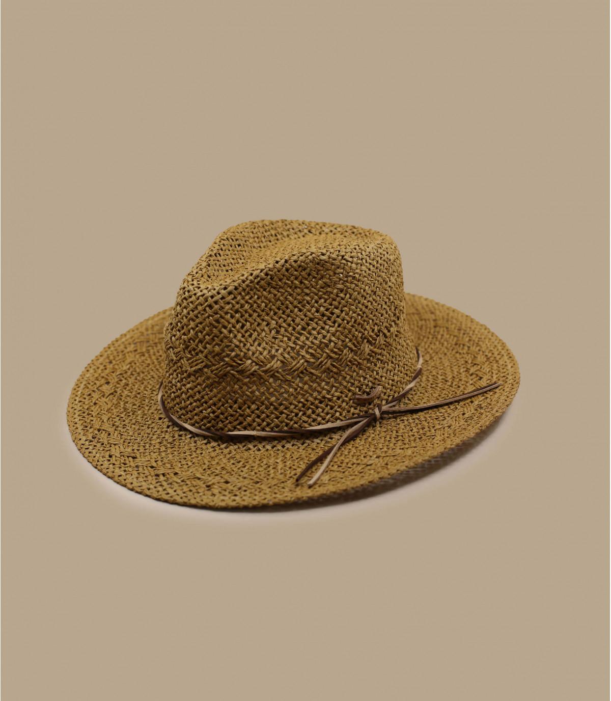 chapeau paille marron