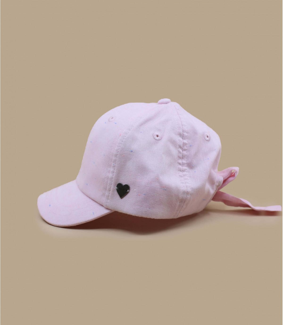 casquette enfant rose nœud