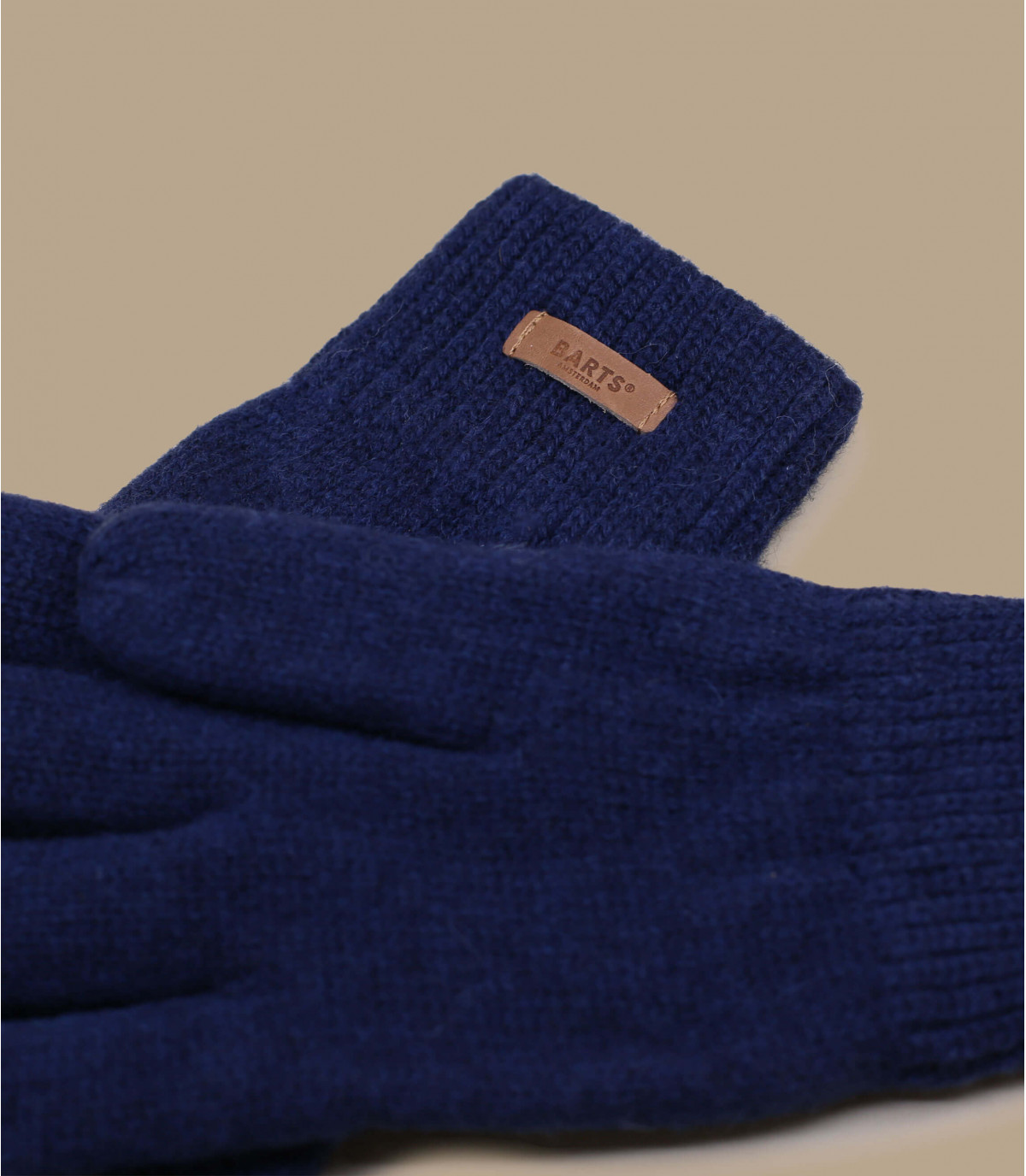 Gants en laine bleu marine