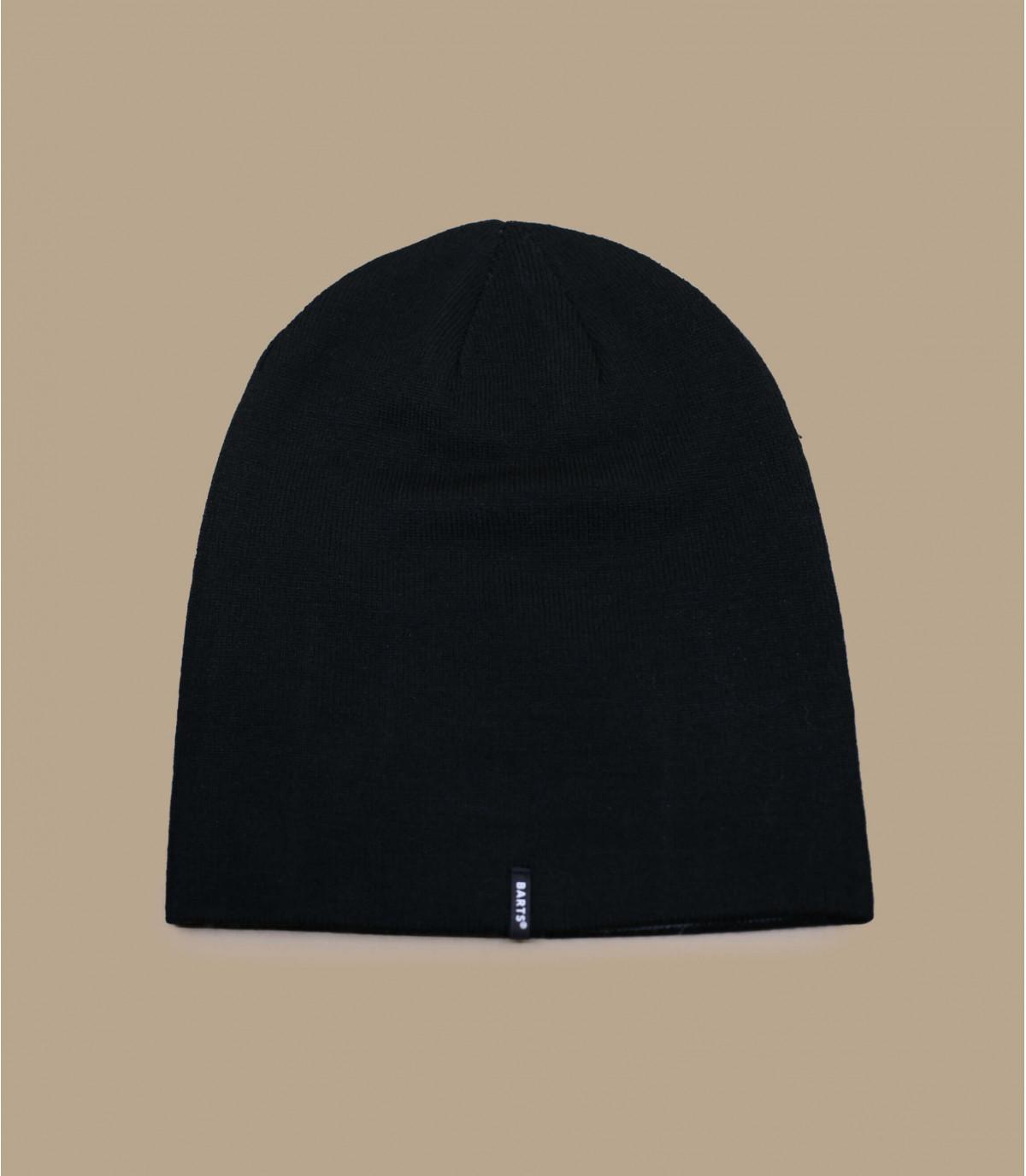 bonnet long noir réversible