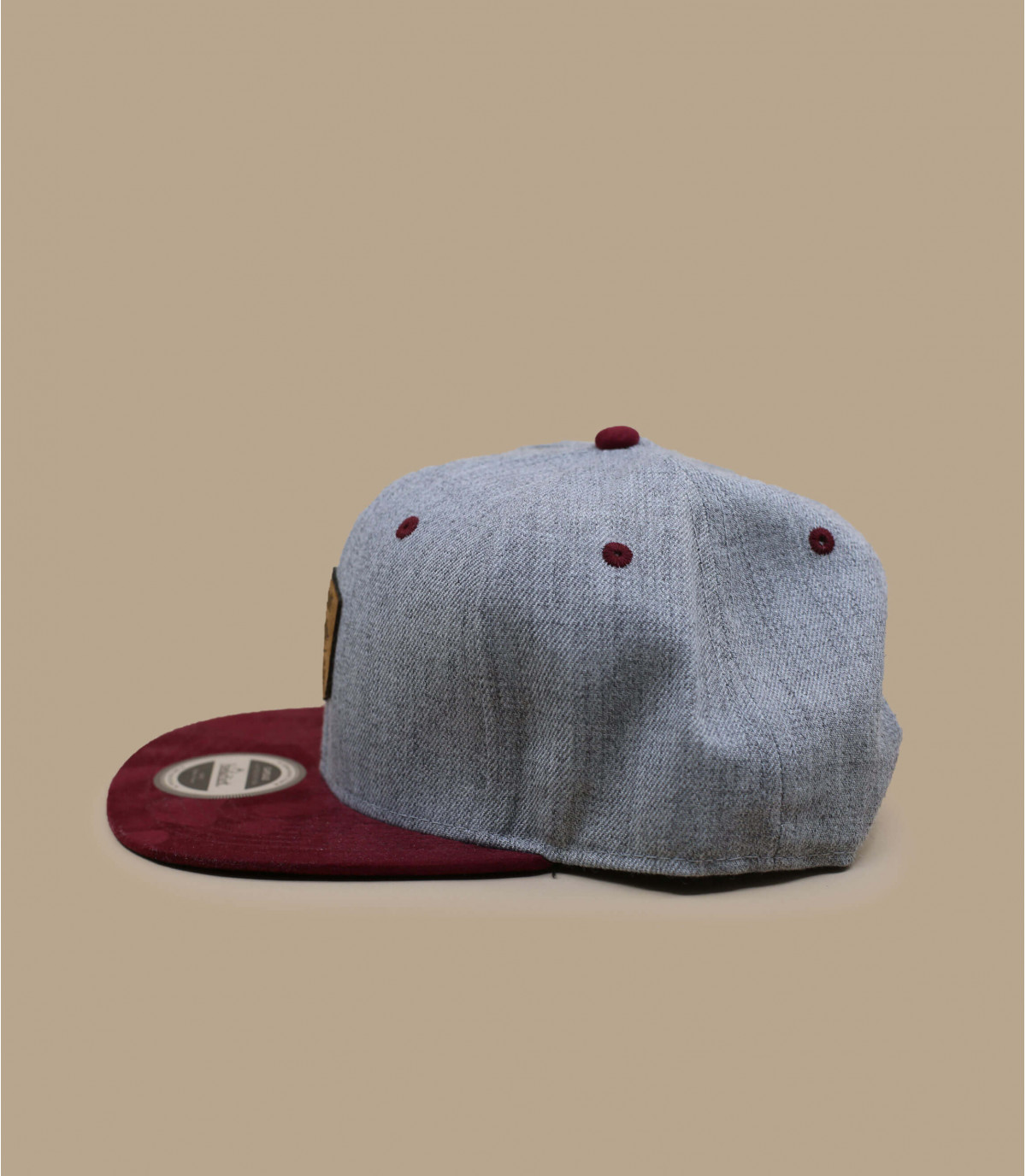 Détails Snapback First Come First Track grey burgundy - image 3