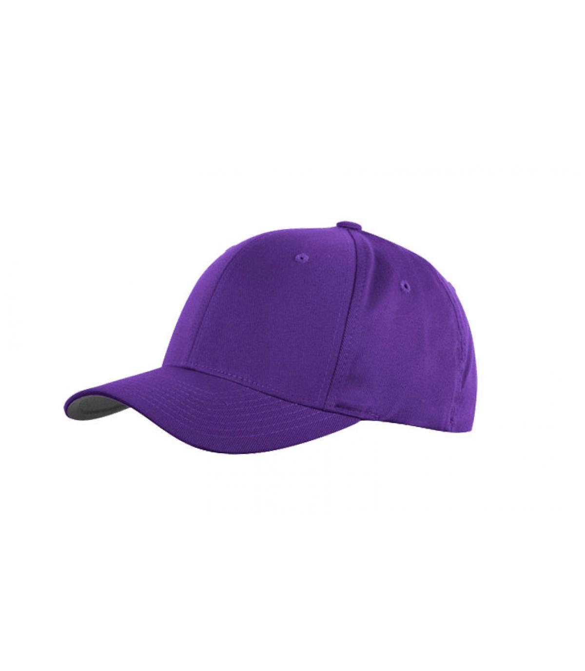 Détails Casquette violette flexfit - image 2