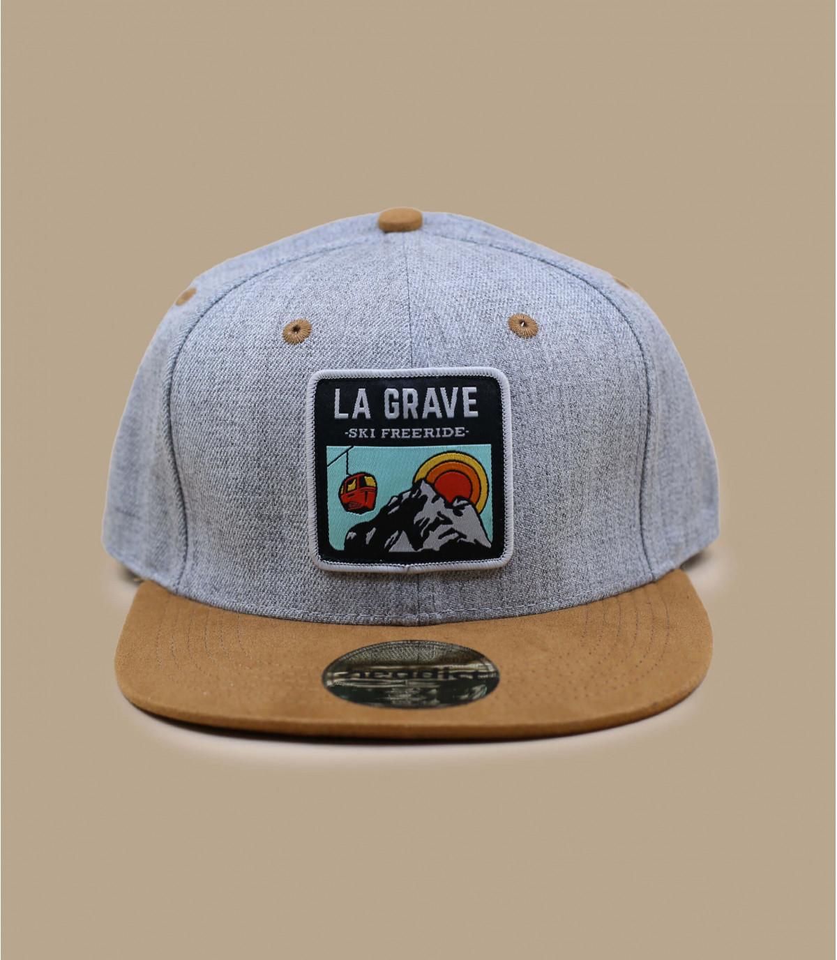 Détails Snapback La Grave grey suede - image 2
